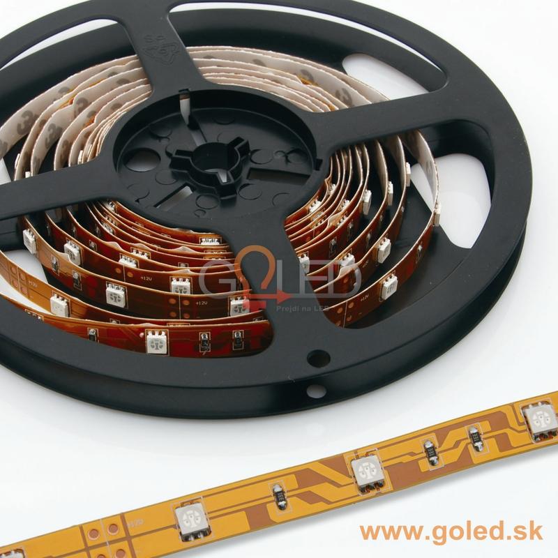 RGB LED pásek do interiéru 5050 30 SMD/m 5m bal. | GoLED