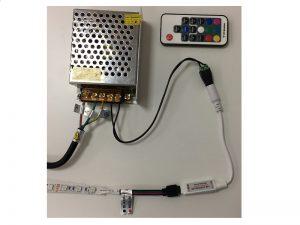 RGB LED adaptér zapojení