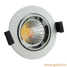 Prémiové bílé zápustné okrouhlé LED svítidlo 8W