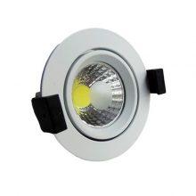 Bílé zápustné kulaté LED svítidlo 8W