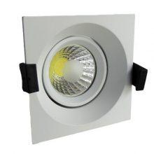 Zapuštěné bílé LED svítidlo 8W čtverec
