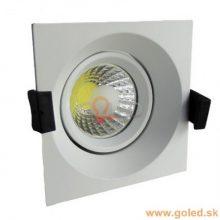 Prémiové zapuštěné hranaté bílé LED svítidlo 8W