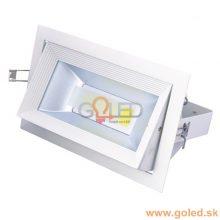 Zapuštěné hranaté LED svítidlo 30W s rotací