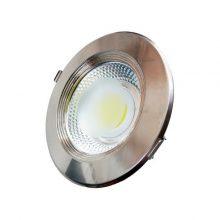 Zapuštěné kulaté chromové LED svítidlo 10W INOX