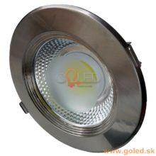 Zápustné okrouhlé stropní COB LED svítidlo INOX