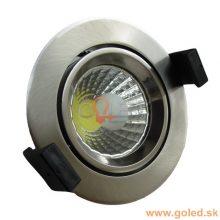 Prémiové zápustné okrouhlé chromové LED svítidlo 8W