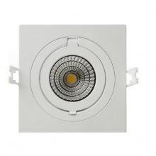 Prémiové zapuštěné hranaté výklopní bílé LED svítidlo 12W