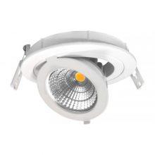 Prémiové zapuštěné okrouhlé výklopní bílé LED svítidlo 12W