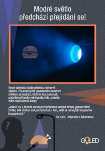 Infografika - Modré světlo předchází přejídání se