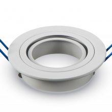 Kulatý bílý hliníkový rámeček na žárovky