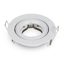 Velký kulatý bílý hliníkový rámeček na žárovky