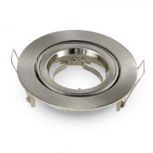 Velký kulatý satin nikel hliníkový rámeček na žárovky
