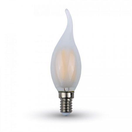 Opálová LED filament svíčka E14 4W plamen