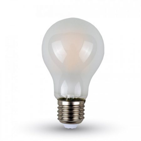 Opálová LED filament žárovka E27 A60 6W