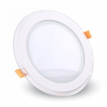 Skleněný kulatý zápustný LED panel 6W