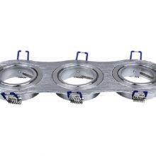 Trojitý kulatý hliníkový rámeček na žárovky
