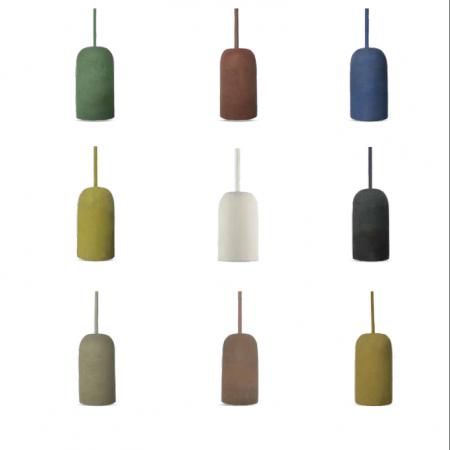 Betonová závěsná lampa váza (9 barev)
