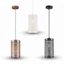 Závěsná lampa válec (3 barvy)