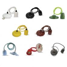 Porcelánová závěsná lampa (8 barev)