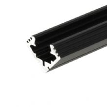Černý rohový hliníkový profil 45 ALU 2m