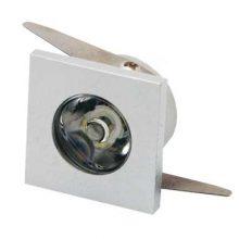Zapuštěné orientační mini LED svítidlo 1W čtverec