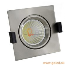 Prémiové zapuštěné chromové LED svítidlo 8W čtverec