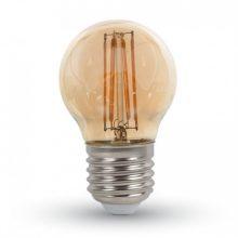Jantarová LED filament žárovka E27 G45 4W