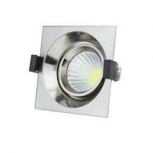 Zapuštěné chromové LED svítidlo 8W čtverec