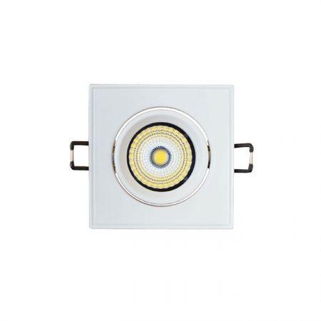 Zapuštěné naklopitelné bílé LED svítidlo 3W čtverec