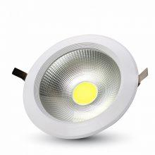 Zapuštěné kulaté bílé LED svítidlo 30W s vysokou svítivostí