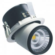 Zapuštěné kulaté černé LED svítidlo 25W