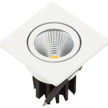 Zápuštěné bílé LED svítidlo 3W čtverec