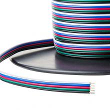Napájecí kabel pro RGB+W pásky 5x0,3mm