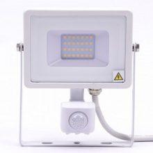 Profesionální bílý LED reflektor 20W s pohybovým čidlem se SAMSUNG čipy