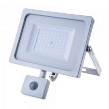 Profesionální bílý LED reflektor 50W s pohybovým čidlem se SAMSUNG čipy