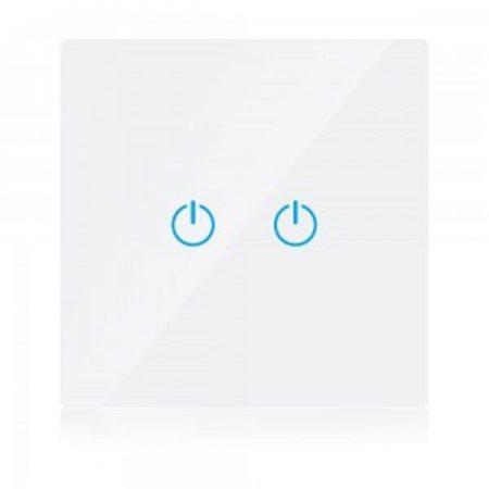 Dvojitý bílý smart Wi-Fi dotykový vypínač