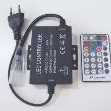 Napájecí kabel k neon flex RGB LED pásku 230v 2m s RF ovladačem