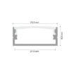 Hliníkový profil na 2 LED pásky MICRO ALU 2m sada