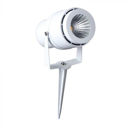 Zapichovací bílá zahradní LED lampa 12W