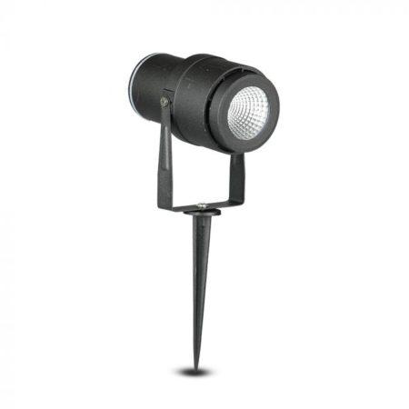 Zapichovací černá zahradní LED lampa 12W