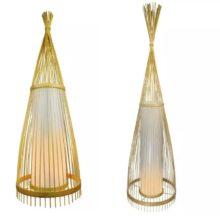 Ratanová stojací lampa na E27 žárovku (2 velikosti)