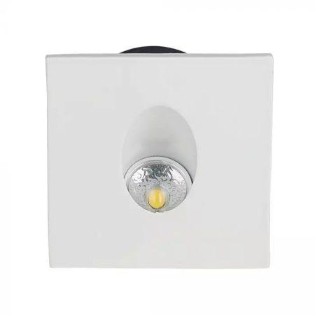 Zápustné bílé hranaté LED svítidlo na schody 3W