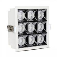 Zapuštěné hranaté bílé LED svítidlo 36W 38° SAMSUNG čipy CRI90